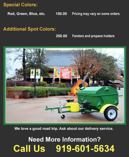 Carolina Pig Cookers, color price information.