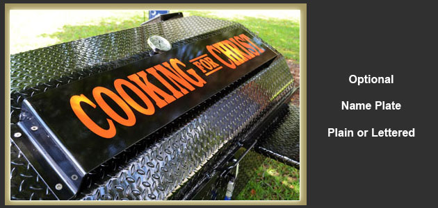 Add your name, favorite team, or business name to your custom cooker.