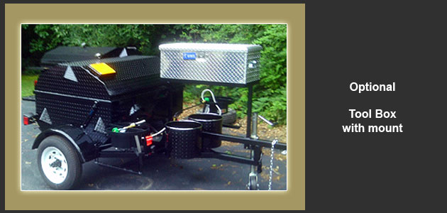 Add the optional tool box, and keep all those barbecue tools close at hand, and under lock and key.