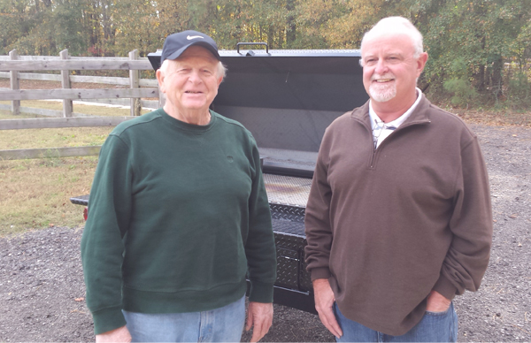 Carolina Pig Cookers, delivers another cooker to Sumter, SC.