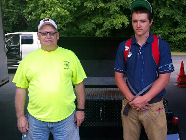 Namozine Volunteer Fire and EMS, new Carolina Pig Cooker owners.
