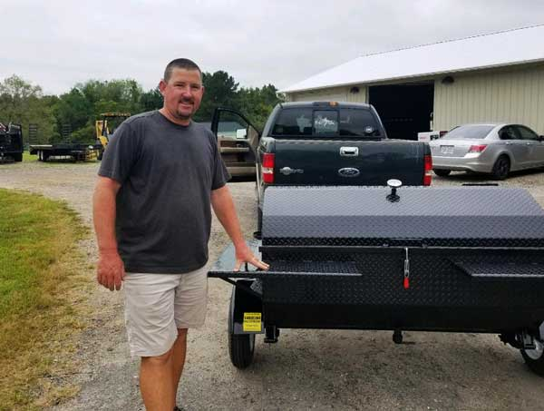 Randall W, new owner of a Carolina Pig Cookers grill.