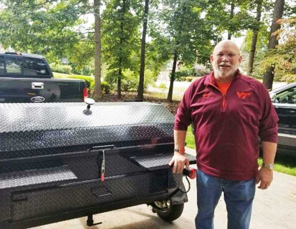 New Carolina Pig Cookers owner from Forest, Virginia.