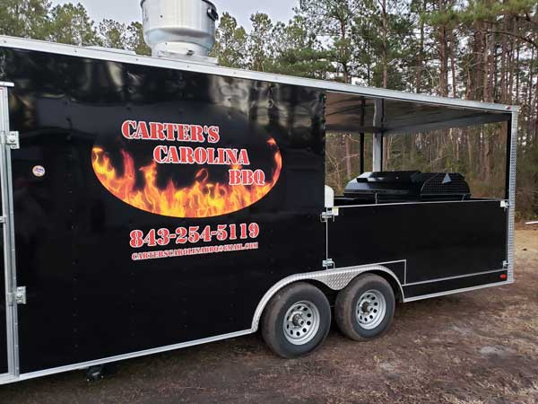 Carters Carolina BBQ - new trailer.