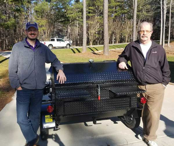 Rob M of Wake Forest, North Carolina with his new cooker.