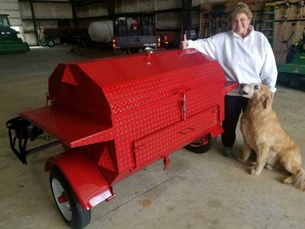 Debbie C. with her new cooker.